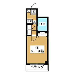 ライオンズマンション八乙女[1階]の間取り