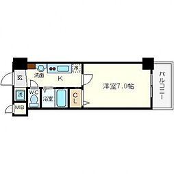 フォレステージ桜川[501号室号室]の間取り