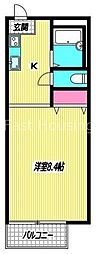 東京都杉並区天沼3丁目の賃貸アパートの間取り
