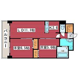 北海道札幌市豊平区月寒西一条5丁目の賃貸マンションの間取り