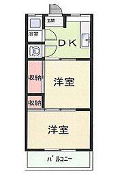 中島本庄ビル[2階]の間取り