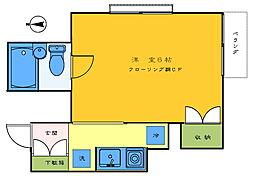 田中アパートメント[103号室]の間取り