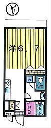 第7クレスト吉原[2階]の間取り