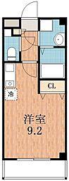 ラグタイム平野[5階]の間取り