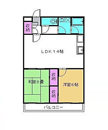 新松戸アルコビル[3階]の間取り