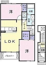 ポラリスハウスII[2階号室]の間取り