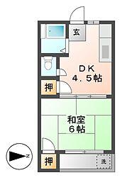 マンション松岡[3階]の間取り