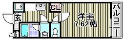 シャンティー大西[207号室]の間取り