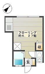 メゾン・ド・オレンジ[102号室]の間取り