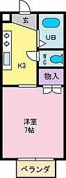 パールハウス[102号室]の間取り