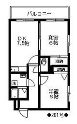 ロペ南庄[2階]の間取り