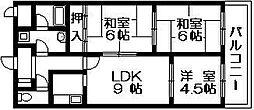 コンフォールセゾン 吉田本町3 吉田5分[6階]の間取り