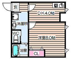 TAIHOクリスタルビル[3階]の間取り