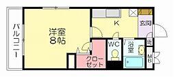 福岡県福岡市博多区青木1丁目の賃貸マンションの間取り