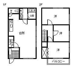 サニーハウス海咲[Z-2号室]の間取り