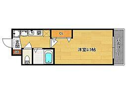 西院くめマンション[305号室]の間取り