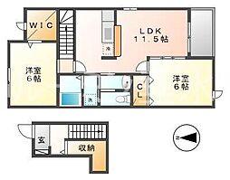シャトー・シモハタ 5[2階]の間取り