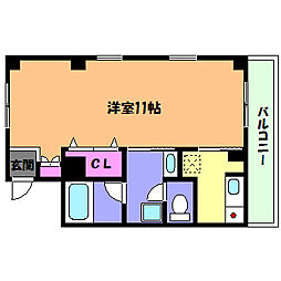兵庫県神戸市灘区六甲町2丁目の賃貸マンションの間取り