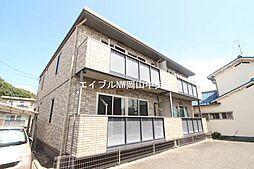岡山県岡山市北区大安寺中町の賃貸アパートの外観