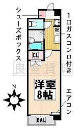 愛知県名古屋市千種区穂波町1丁目の賃貸マンションの間取り