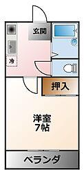 ラメゾンクレア[1階]の間取り