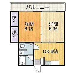 静岡県静岡市駿河区馬渕3丁目の賃貸マンションの間取り