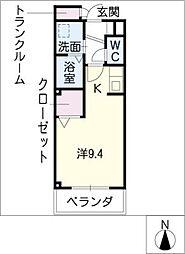 メゾン栄光[2階]の間取り
