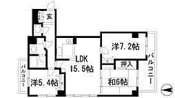 グランドムール宝塚南口[3階]の間取り