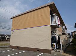 岡山県倉敷市宮前の賃貸アパートの外観
