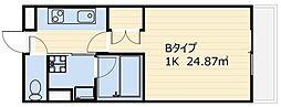 ベルウッド南山[402号室号室]の間取り