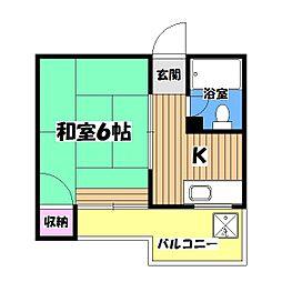 大木ハイツ[2階]の間取り