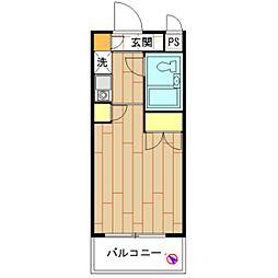 モナークマンション海老名壱番館[0104号室]の間取り