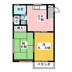 グリーンパストラル2[1階]の間取り
