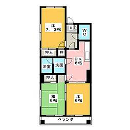 エクセルメゾン本山[1階]の間取り