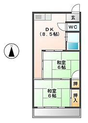 東雲会館[3階]の間取り