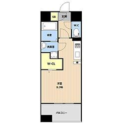 LIBTH(リブス)吉塚II 2階ワンルームの間取り