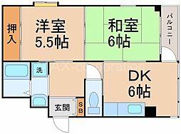 メゾン・ド・T4[3階]の間取り