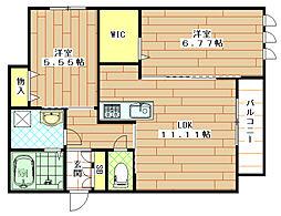 (仮称)東大阪市シャーメゾン岩田町3丁目[305号室]の間取り