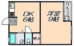 兵庫県神戸市灘区徳井町5丁目の賃貸マンションの間取り