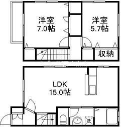 [テラスハウス] 岡山県岡山市東区可知2丁目 の賃貸【/】の間取り