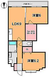 センチュリーアスカX[2階]の間取り