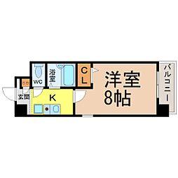 愛知県名古屋市昭和区広路本町1丁目の賃貸マンションの間取り