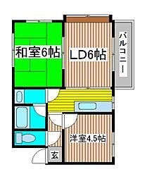 メゾン武蔵浦和弐号館[3階]の間取り