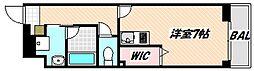 京成本線 海神駅 徒歩7分の賃貸マンション 2階1Kの間取り