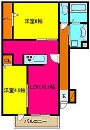d−room横小路[105号室]の間取り
