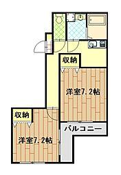騎射場パークマンションM[402号室]の間取り