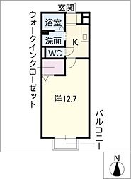 コンフォートアベニュー西棟[2階]の間取り