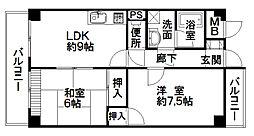 21北堀江[803号室]の間取り