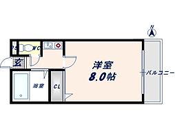 サンライフ長田[3階]の間取り
