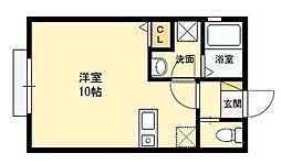 荒本駅徒歩10分 アレグリア・東大阪[105号室]の間取り